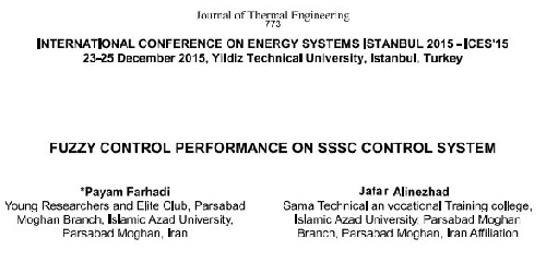 fuzzy control performance on sssc control system